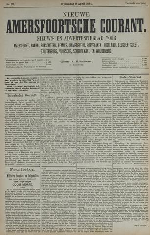 Nieuwe Amersfoortsche Courant 1884-04-02