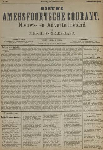 Nieuwe Amersfoortsche Courant 1885-12-30