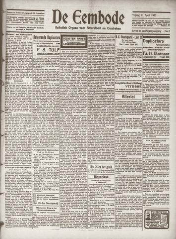 De Eembode 1933-04-21