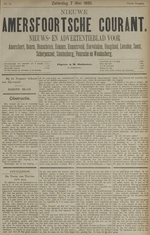 Nieuwe Amersfoortsche Courant 1881-05-07