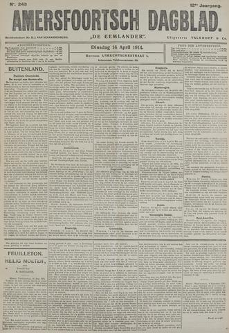 Amersfoortsch Dagblad / De Eemlander 1914-04-14