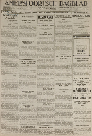 Amersfoortsch Dagblad / De Eemlander 1931-09-02
