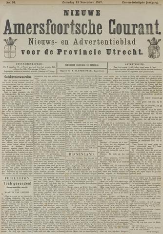 Nieuwe Amersfoortsche Courant 1897-11-13