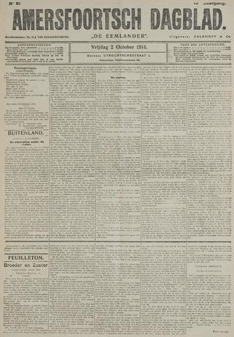 Amersfoortsch Dagblad / De Eemlander 1914-10-02