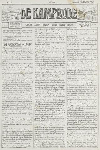 De Kampbode 1916-04-23