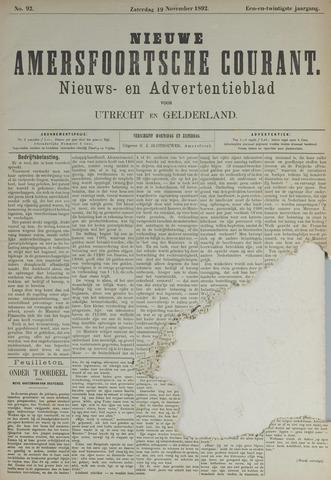 Nieuwe Amersfoortsche Courant 1892-11-19