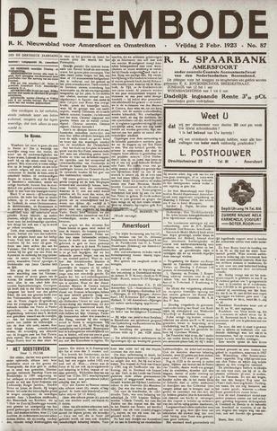 De Eembode 1923-02-02