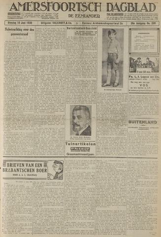 Amersfoortsch Dagblad / De Eemlander 1930-06-10