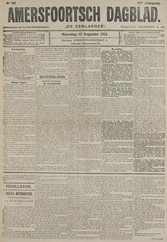 Amersfoortsch Dagblad / De Eemlander 1914-08-10