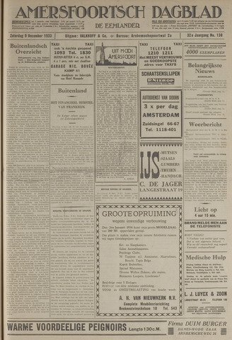 Amersfoortsch Dagblad / De Eemlander 1933-12-09