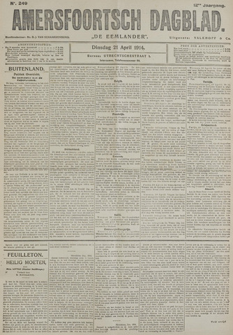 Amersfoortsch Dagblad / De Eemlander 1914-04-21