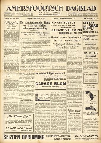 Amersfoortsch Dagblad / De Eemlander 1939-07-22