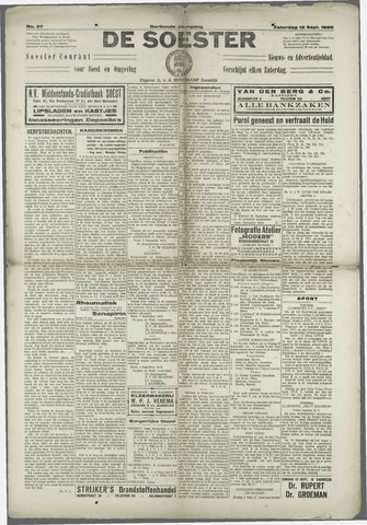 Soester Courant 1925-09-12
