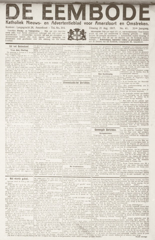 De Eembode 1917-08-21