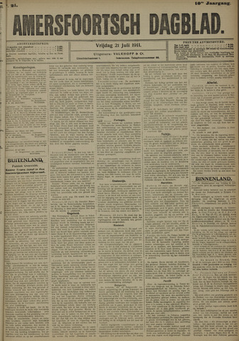 Amersfoortsch Dagblad 1911-07-21