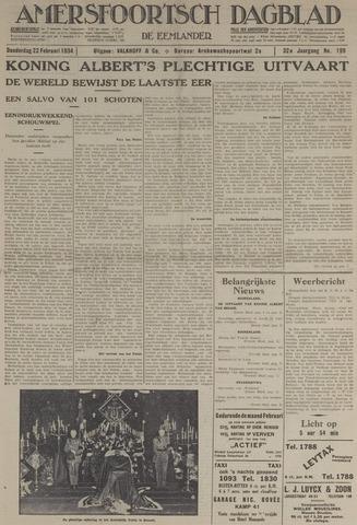 Amersfoortsch Dagblad / De Eemlander 1934-02-22