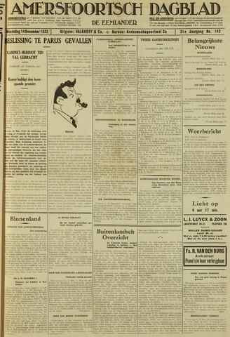 Amersfoortsch Dagblad / De Eemlander 1932-12-14