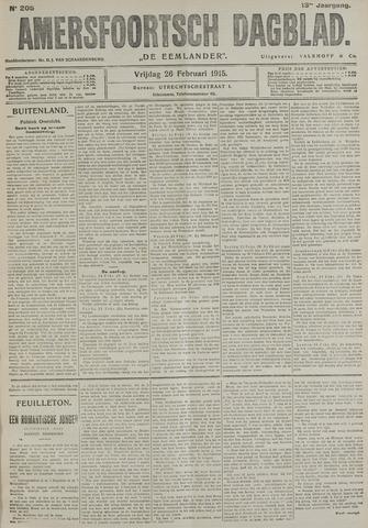 Amersfoortsch Dagblad / De Eemlander 1915-02-26
