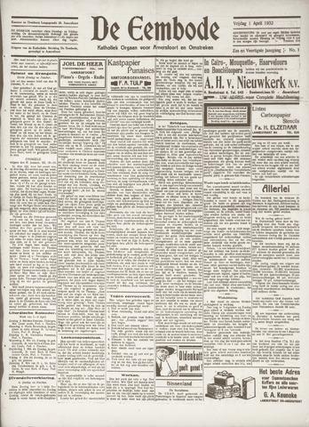 De Eembode 1932-04-01