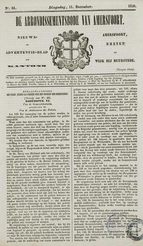 Arrondissementsbode van Amersfoort 1849-12-11