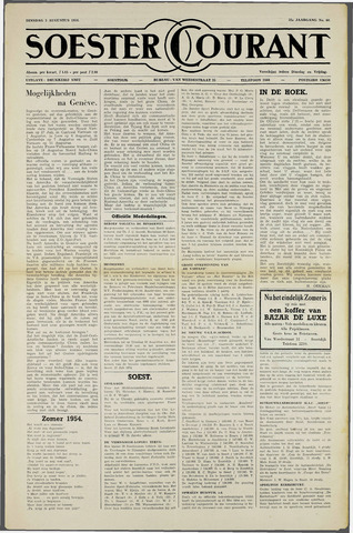 Soester Courant 1954-08-03