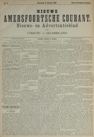 Nieuwe Amersfoortsche Courant 1892-02-10