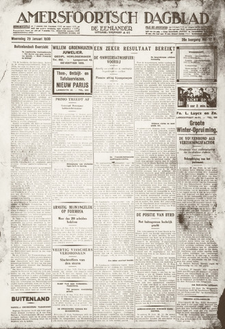 Amersfoortsch Dagblad / De Eemlander 1930-01-29