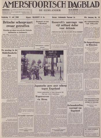 Amersfoortsch Dagblad / De Eemlander 1940-07-11