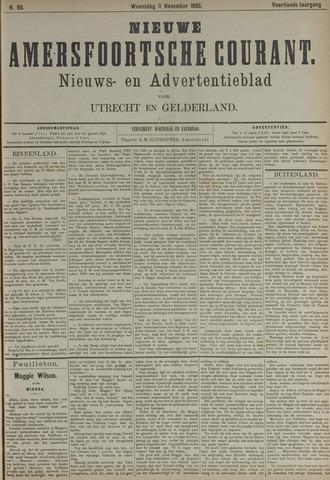 Nieuwe Amersfoortsche Courant 1885-11-11