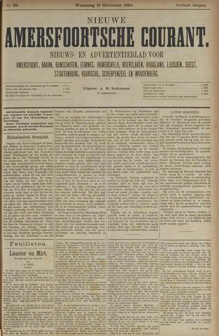 Nieuwe Amersfoortsche Courant 1884-11-19