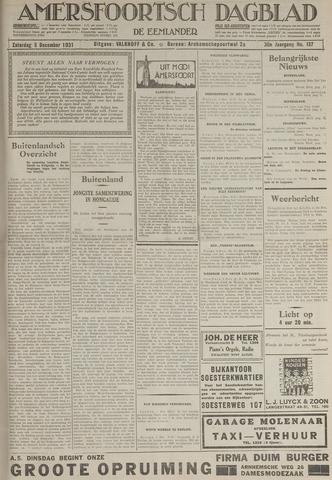 Amersfoortsch Dagblad / De Eemlander 1931-12-05