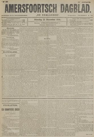 Amersfoortsch Dagblad / De Eemlander 1914-12-22