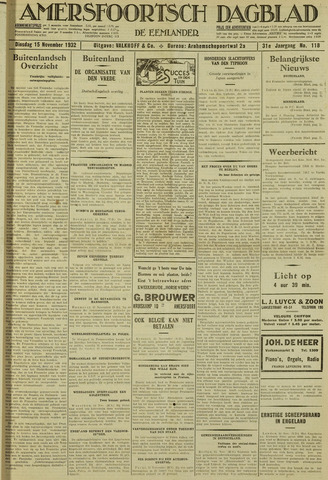 Amersfoortsch Dagblad / De Eemlander 1932-11-15