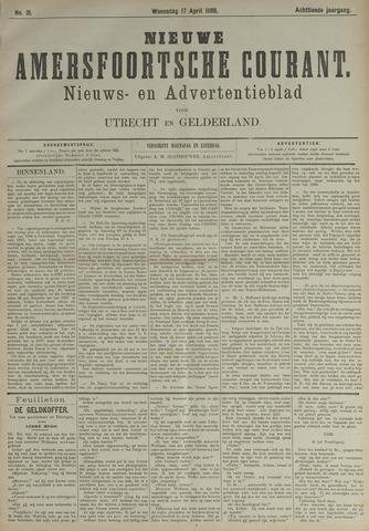 Nieuwe Amersfoortsche Courant 1889-04-17