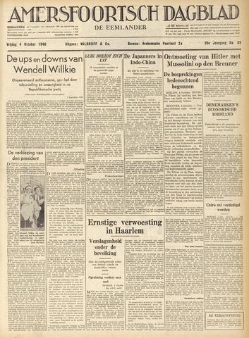 Amersfoortsch Dagblad / De Eemlander 1940-10-04
