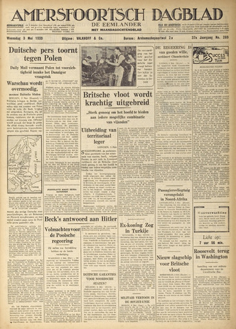 Amersfoortsch Dagblad / De Eemlander 1939-05-03