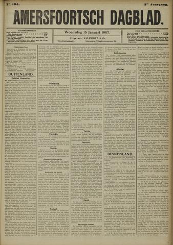Amersfoortsch Dagblad 1907-01-16