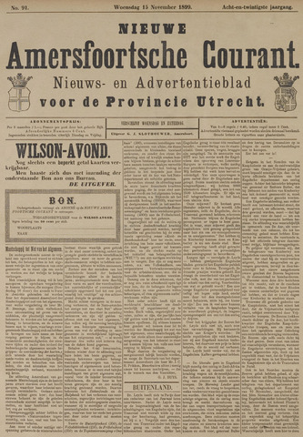 Nieuwe Amersfoortsche Courant 1899-11-15