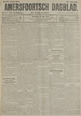 Amersfoortsch Dagblad / De Eemlander 1917-05-19
