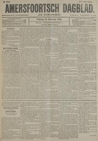 Amersfoortsch Dagblad / De Eemlander 1916-02-25