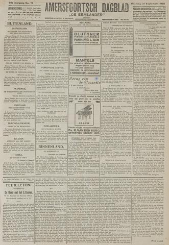 Amersfoortsch Dagblad / De Eemlander 1925-09-21