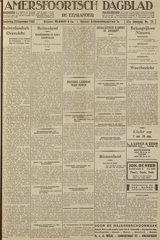 Amersfoortsch Dagblad / De Eemlander 1932-09-22