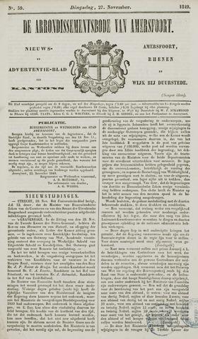 Arrondissementsbode van Amersfoort 1849-11-27