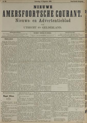 Nieuwe Amersfoortsche Courant 1885-08-08