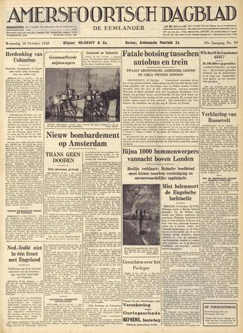 Amersfoortsch Dagblad / De Eemlander 1940-10-16