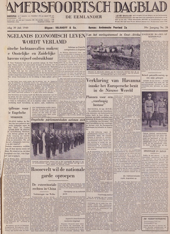 Amersfoortsch Dagblad / De Eemlander 1940-07-30