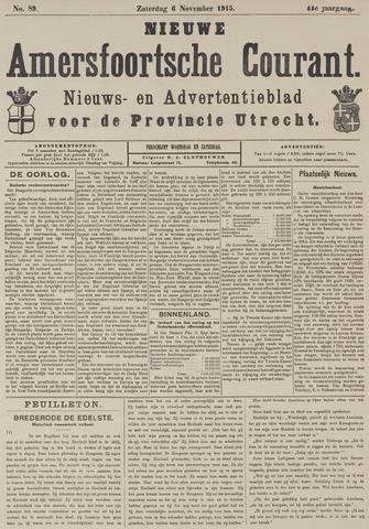 Nieuwe Amersfoortsche Courant 1915-11-06