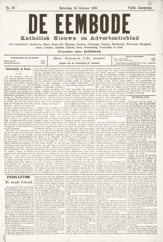 De Eembode 1891-10-24