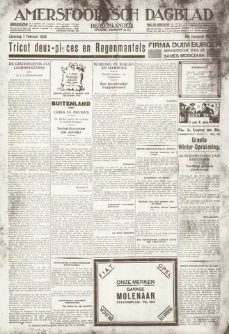 Amersfoortsch Dagblad / De Eemlander 1930-02-01