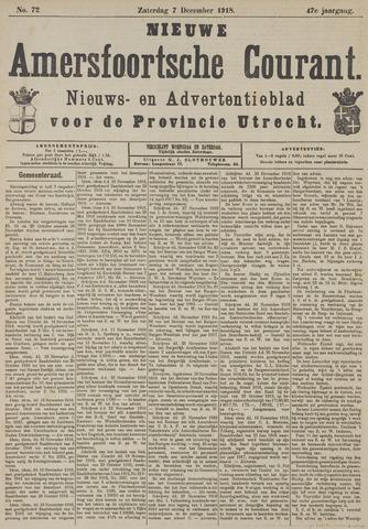 Nieuwe Amersfoortsche Courant 1918-12-07